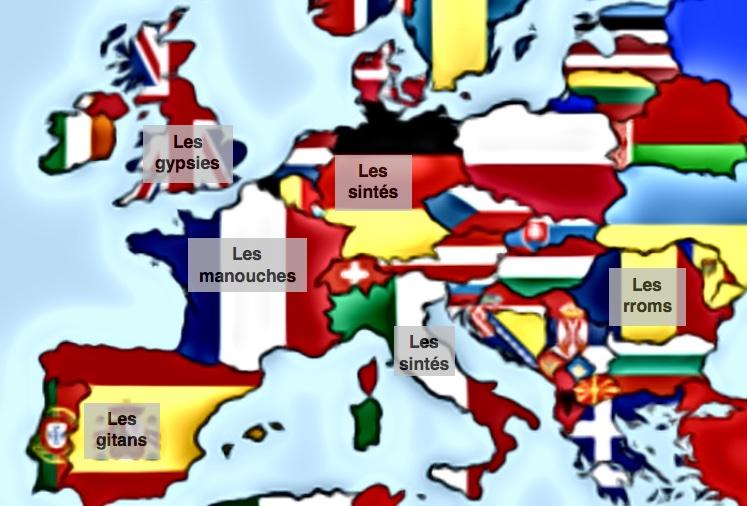 carte géographie roms